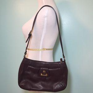 Vintage Etienne Aigner Wine-Colored Shoulder Bag